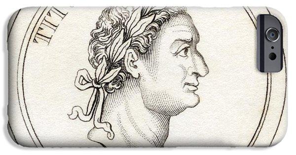 Flavius iPhone Cases - Titus Flavius Sabinus Vespasianus Aka iPhone Case by Vintage Design Pics