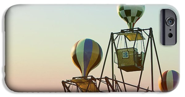 Amusements iPhone Cases - Tivoli Balloon Ride iPhone Case by Linda Woods