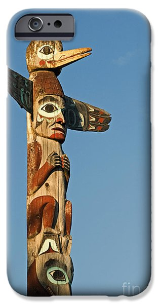 Park Scene iPhone Cases - Tlingit Totem Pole iPhone Case by Greg Vaughn - Printscapes