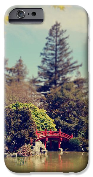 Japanese Garden iPhone Cases - To A Faraway Land iPhone Case by Laurie Search