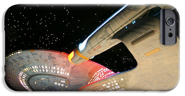 Enterprise Photographs iPhone Cases - To Boldly Go iPhone Case by Kristin Elmquist