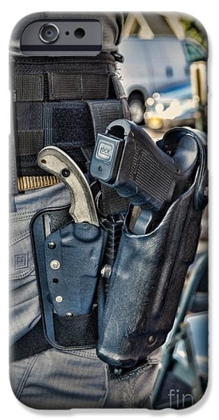 Law Enforcement iPhone Cases - To Protect and Serve iPhone Case by Paul Ward