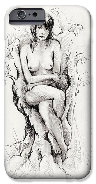 Nature Study Drawings iPhone Cases - To remain iPhone Case by Rachel Christine Nowicki