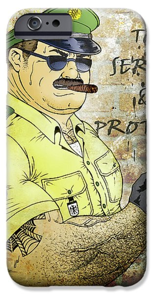Recently Sold -  - Police Officer iPhone Cases - To Serve And Protect iPhone Case by Bear Pictureart