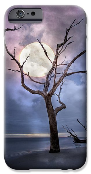 Moonshine On The Beach iPhone Cases - To The Moon iPhone Case by Debra and Dave Vanderlaan