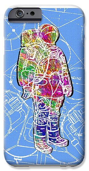 Recently Sold -  - Abstract Digital iPhone Cases - To the Moon with Style iPhone Case by Tom Monarch
