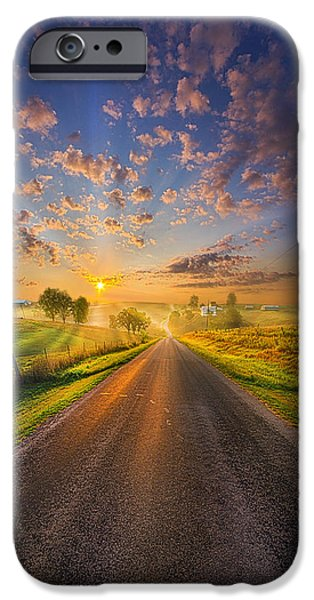 Road Travel iPhone Cases - To The Place Where Dreams Are Born iPhone Case by Phil Koch
