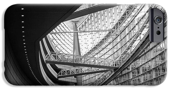 Finance iPhone Cases - Tokyo International Forum 2 iPhone Case by Andrea Anderegg