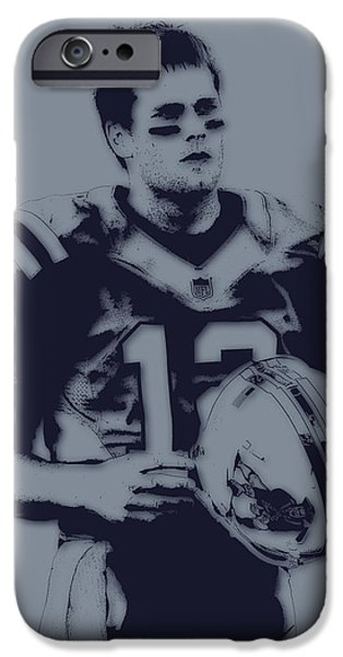 Patriots iPhone Cases - Tom Brady Patriots 2 iPhone Case by Joe Hamilton