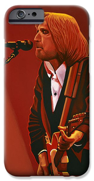 Root iPhone Cases - Tom Petty iPhone Case by Paul Meijering