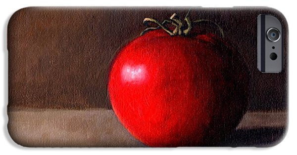 Janet King iPhone Cases - Tomato Still Life 1 iPhone Case by Janet King