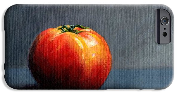 Janet King iPhone Cases - Tomato Still Life 2 iPhone Case by Janet King