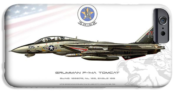Weapon iPhone Cases - Tomcat Screaming Eagles iPhone Case by Peter Van Stigt