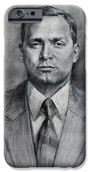 Mafia iPhone Cases - Tommy Luchese iPhone Case by Ylli Haruni