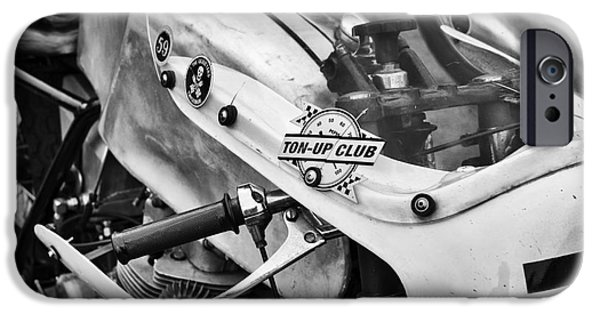 Worn In iPhone Cases - Ton up Club monochrome iPhone Case by Tim Gainey