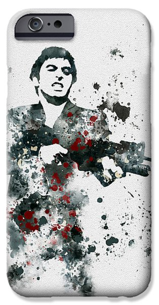 Oliver Stone iPhone Cases - Tony Montana iPhone Case by Rebecca Jenkins
