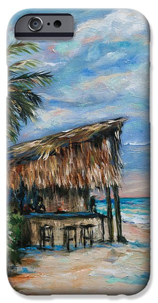 Sailboats iPhone Cases - Tonys Bar in Negril iPhone Case by Linda Olsen