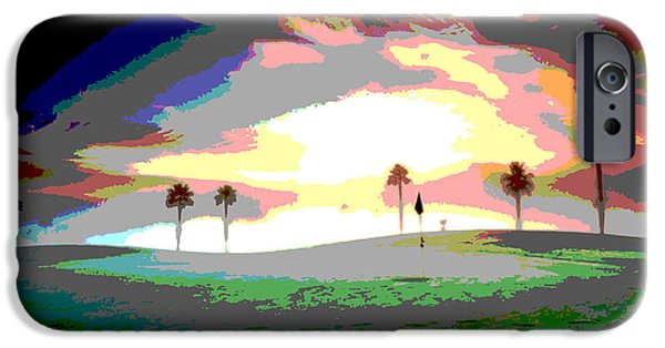 Abstract Digital Art iPhone Cases - Toolie Fog At Sunrise iPhone Case by James Harper