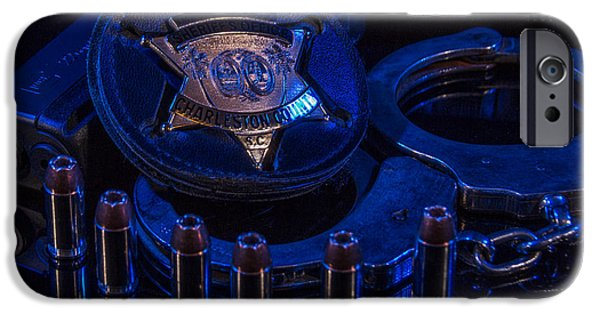 Law Enforcement iPhone Cases - Tools of the Job 2 iPhone Case by Doug DeLong