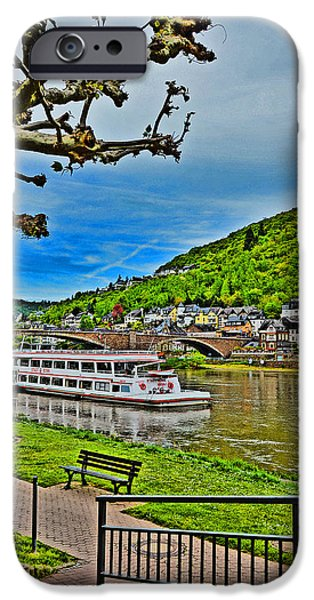 River View iPhone Cases - TOP VIEW. The Rhine. Koblenz. Germany.  iPhone Case by Andy Za