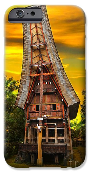 House iPhone Cases - Toraja Architecture iPhone Case by Charuhas Images
