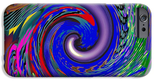 Fury iPhone Cases - Tornado Waves Colorful  An artistic vision of Natures Beauty Energy and Fury iPhone Case by Navin Joshi