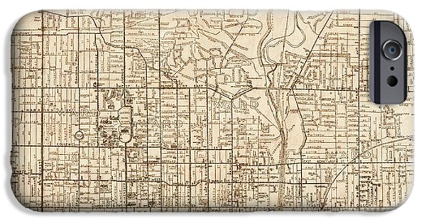 Canadian Map iPhone Cases - Toronto Ontario Canada Antique Vintage City Map iPhone Case by ELITE IMAGE photography By Chad McDermott