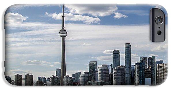 Skyline Pyrography iPhone Cases - Toronto Skyline iPhone Case by Olga Photography
