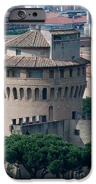 TORRE SAN GIOVANNI st johns tower on the ramparts of the walls of the vatican city rome iPhone Case by Andy Smy