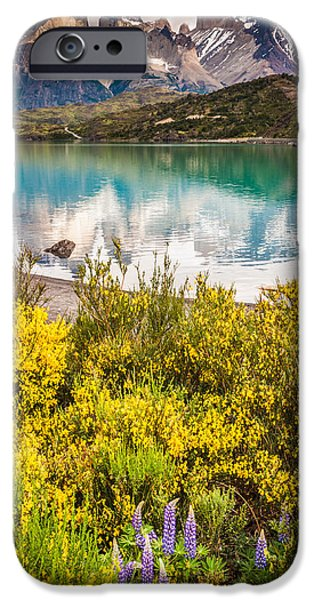 Beautiful iPhone Cases - Torres del Paine Reflection - Patagonia Photograph by Duane Miller iPhone Case by Duane Miller