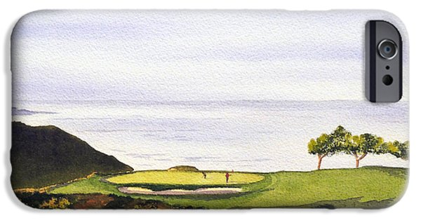 Us Open iPhone Cases - Torrey Pines South Golf Course iPhone Case by Bill Holkham