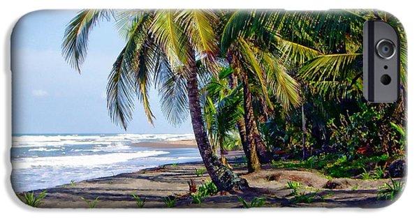 Beach Landscape iPhone Cases - Tortuguero Beach iPhone Case by Anthony Dezenzio