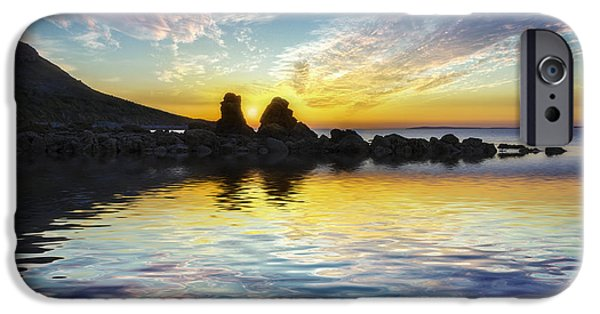 Ocean Sunset iPhone Cases - Total Peace iPhone Case by Ian Mitchell