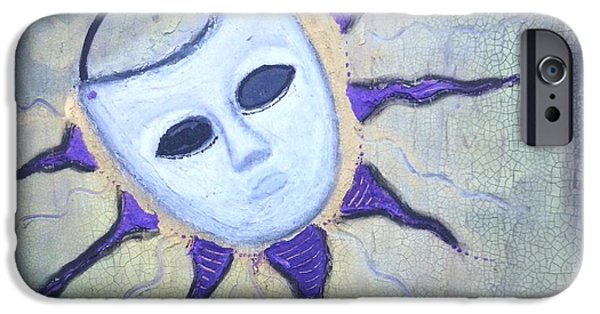 Mixed Media Pastels iPhone Cases - Touch My Mask iPhone Case by Regina Jeffers