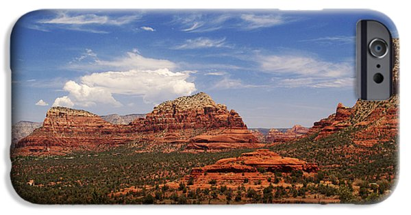 Sedona iPhone Cases - Touch The Earth iPhone Case by Linda Knorr Shafer