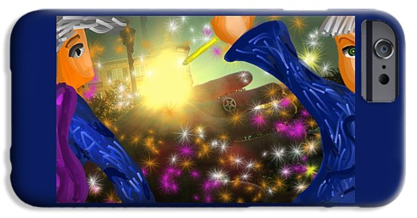 Surrealism Digital iPhone Cases - Touch the light iPhone Case by Mark Greulach
