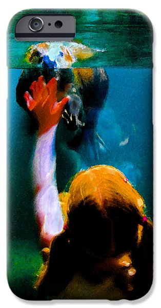 Beaver Digital iPhone Cases - Touching iPhone Case by David Lee Thompson