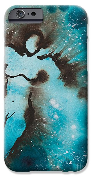 Touching the Universe I iPhone Case by Ilisa  Millermoon