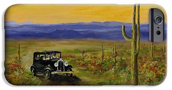 Jack Skinner Paintings iPhone Cases - Touring Arizona iPhone Case by Jack Skinner