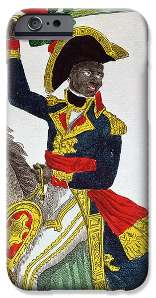 Slaves iPhone Cases - Toussaint Louverture iPhone Case by French School