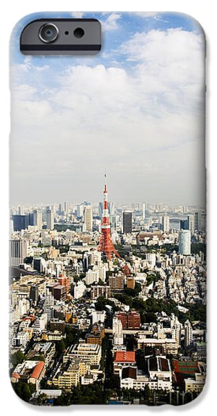 Tower and city view iPhone Case by Bill Brennan - Printscapes