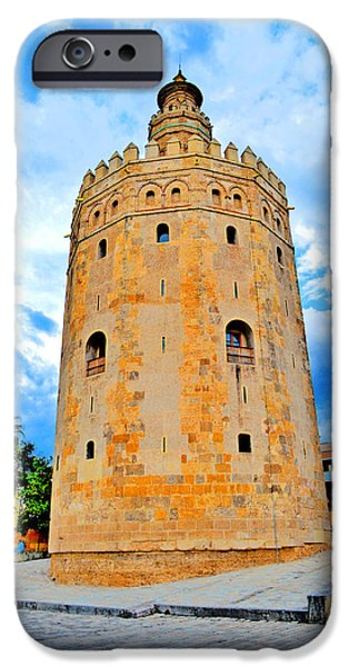 Admiral Digital iPhone Cases - Tower of Gold . The Torre del Oro in Seville. Spain. iPhone Case by Andy Za