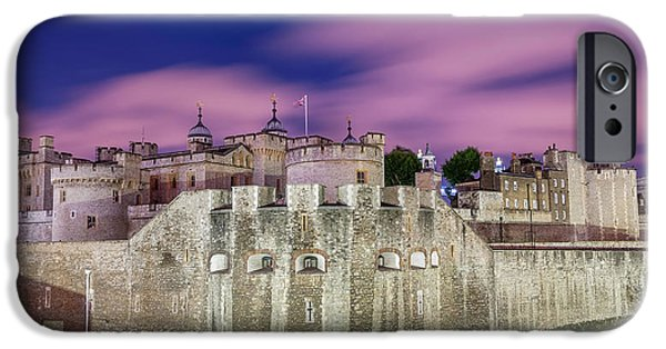 Flag iPhone Cases - Tower of London at Dawn iPhone Case by Colin Evans