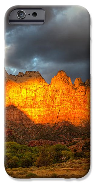 towers of the virgin two iPhone Case by Paul Basile