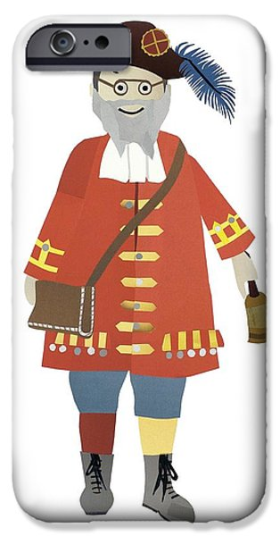 Town Mixed Media iPhone Cases - Town Crier iPhone Case by Isoebl Barber