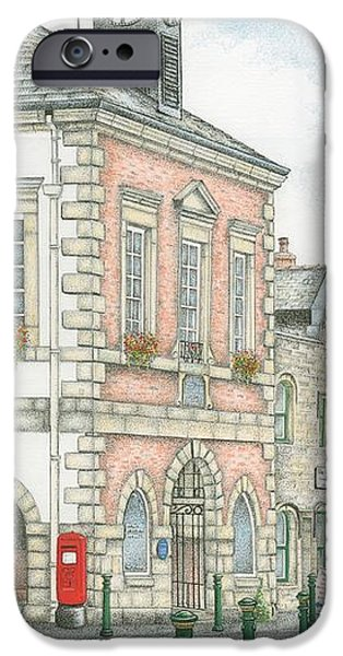 Municipal iPhone Cases - Town Hall Clock Garstang Lancashire iPhone Case by Sandra Moore