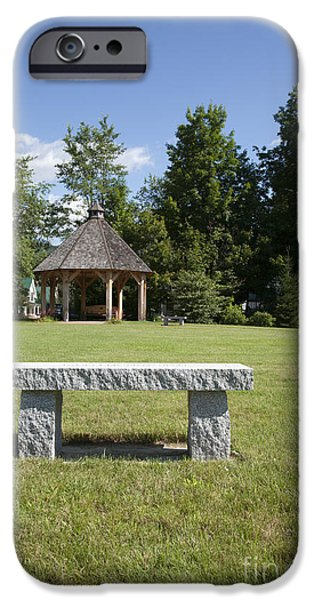 Town park in Bartlett New Hampshire USA iPhone Case by Erin Paul Donovan