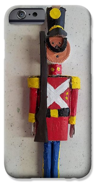 Model Sculptures iPhone Cases - Toy Soldier iPhone Case by William Douglas