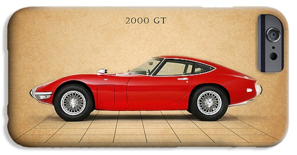Motor Sport iPhone Cases - Toyota 2000 GT iPhone Case by Mark Rogan