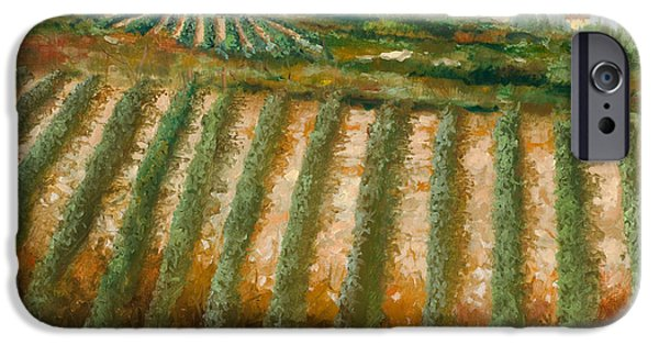 Grape Vineyard iPhone Cases - Tra I Filari Nella Vigna iPhone Case by Guido Borelli